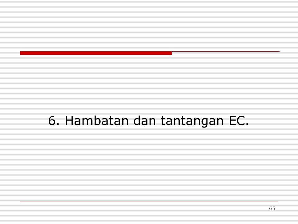 6. Hambatan dan tantangan EC.