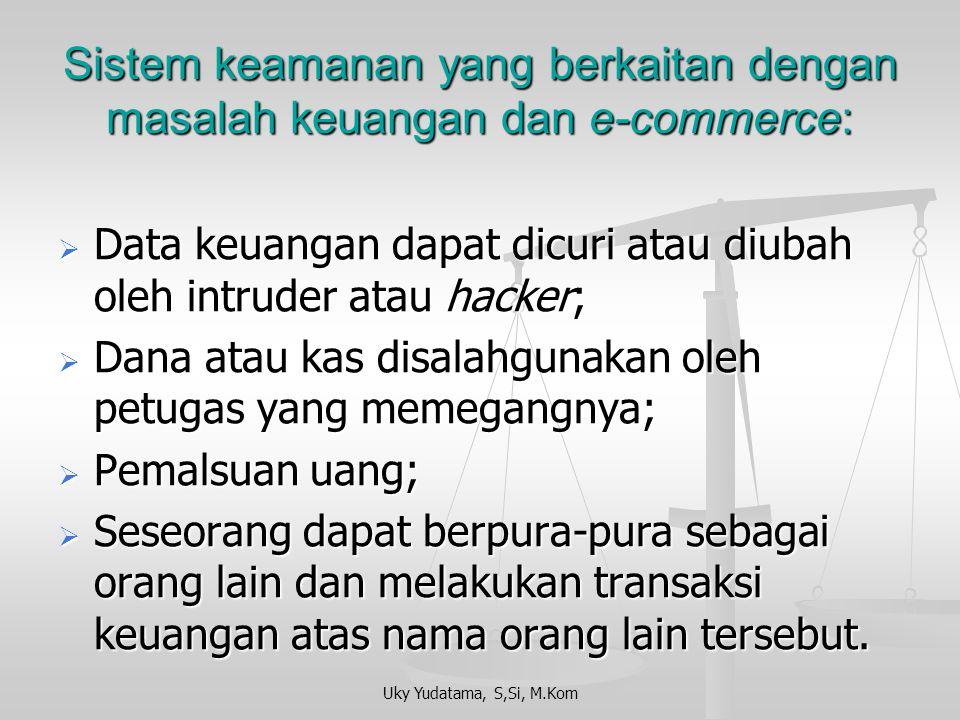 Sistem keamanan yang berkaitan dengan masalah keuangan dan e-commerce: