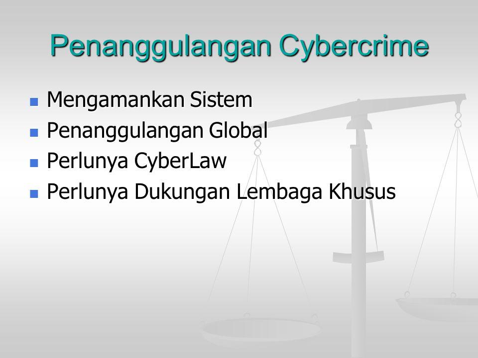 Penanggulangan Cybercrime