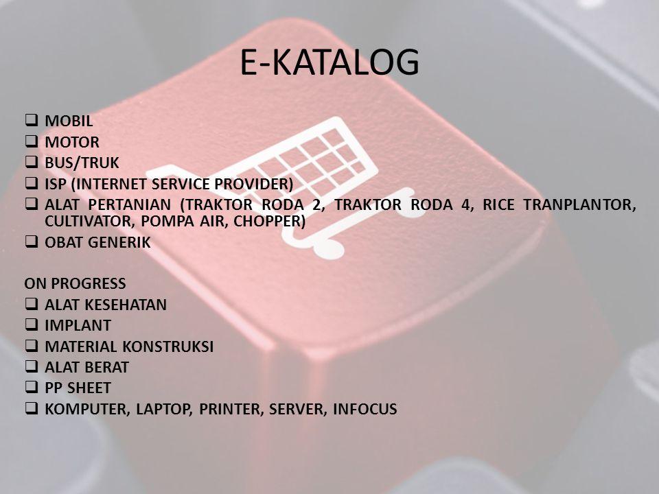E-KATALOG MOBIL MOTOR BUS/TRUK ISP (INTERNET SERVICE PROVIDER)