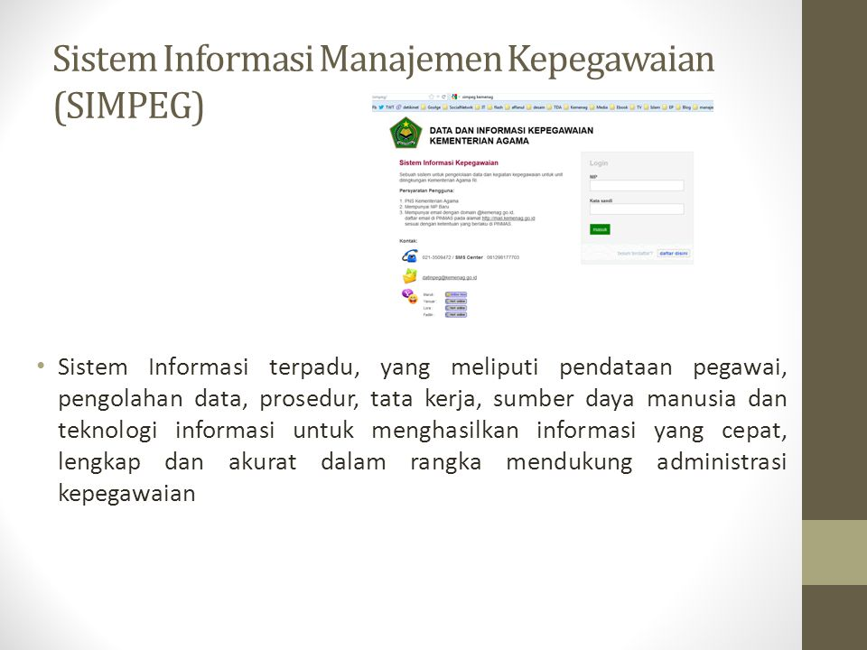 Sistem Informasi Manajemen Kepegawaian (SIMPEG)