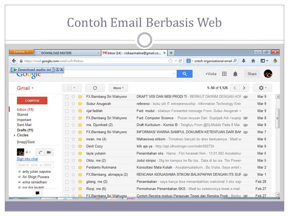 Contoh Email Berbasis Web