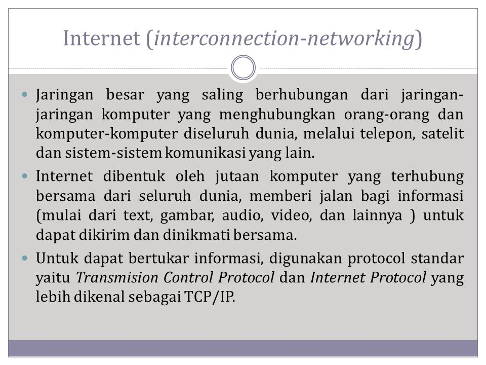 Internet (interconnection-networking)