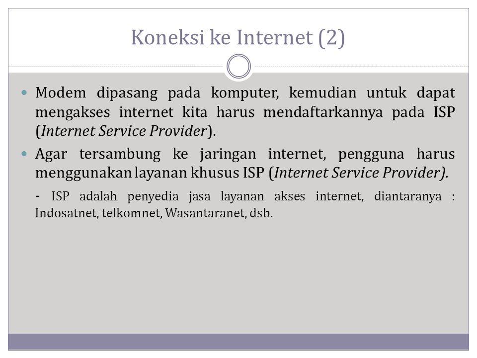 Koneksi ke Internet (2)