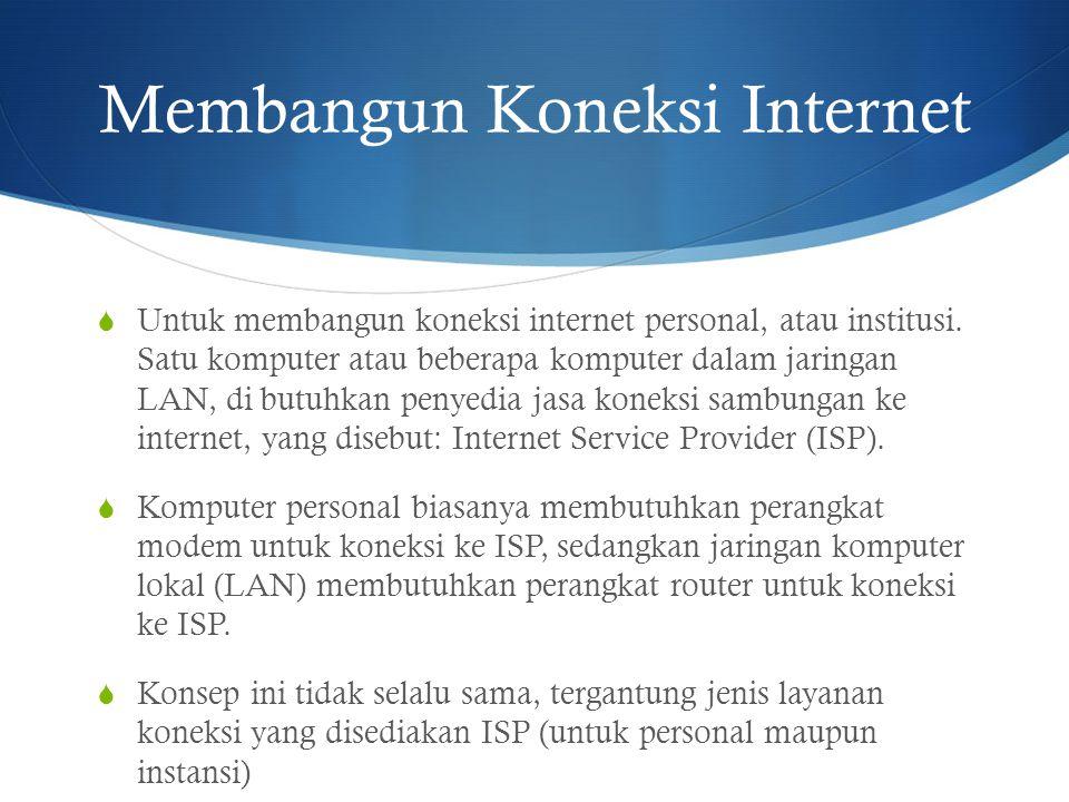 Membangun Koneksi Internet