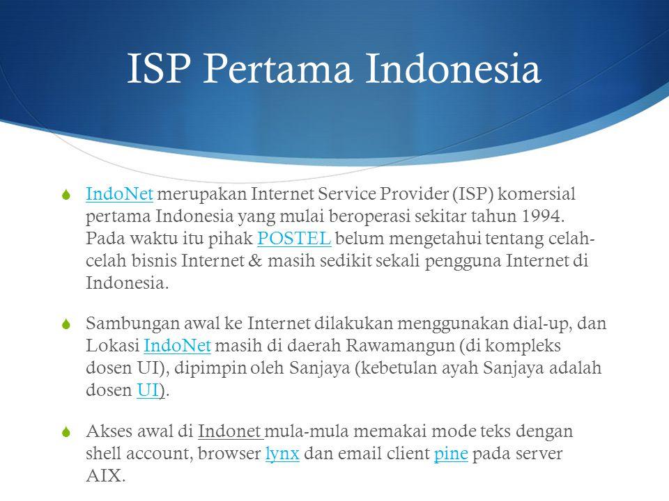 ISP Pertama Indonesia