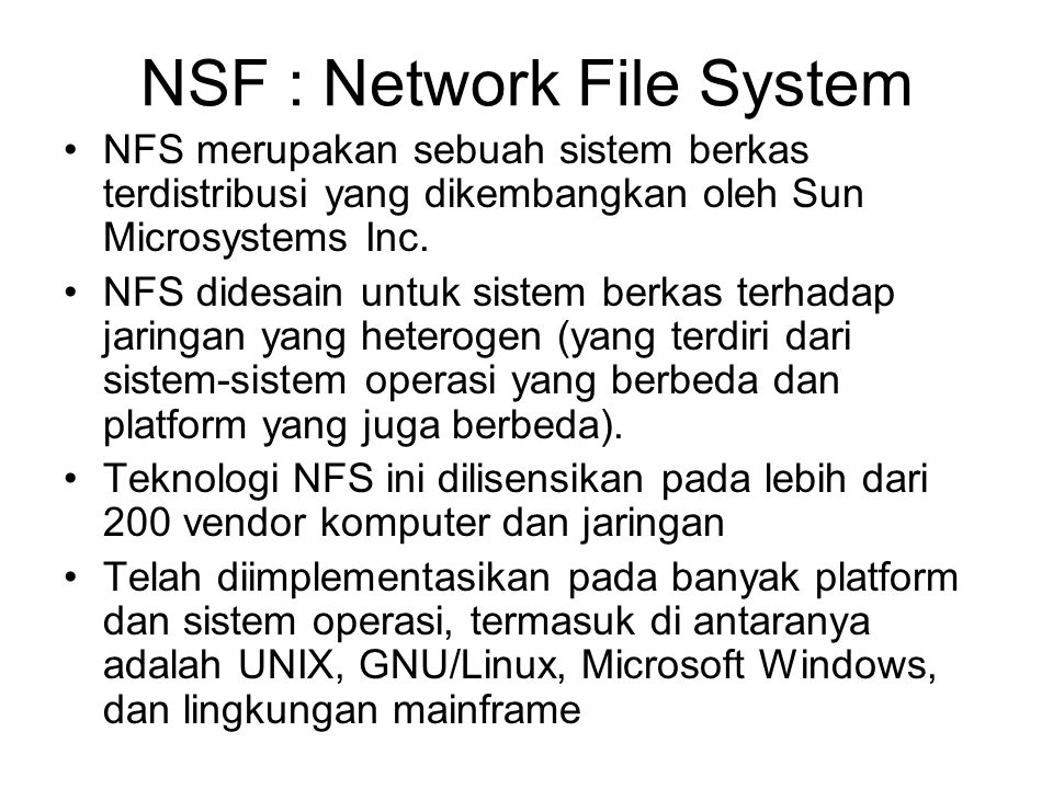 NSF : Network File System
