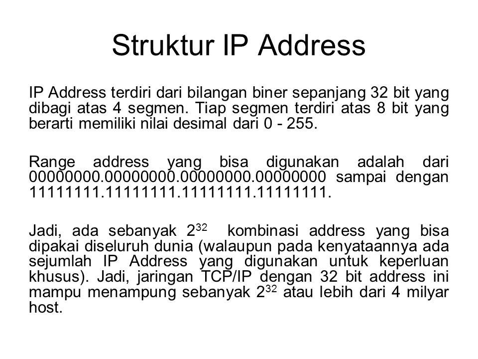 Struktur IP Address