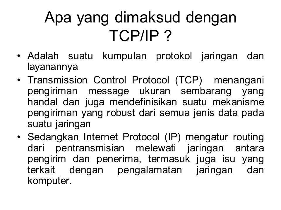 Apa yang dimaksud dengan TCP/IP