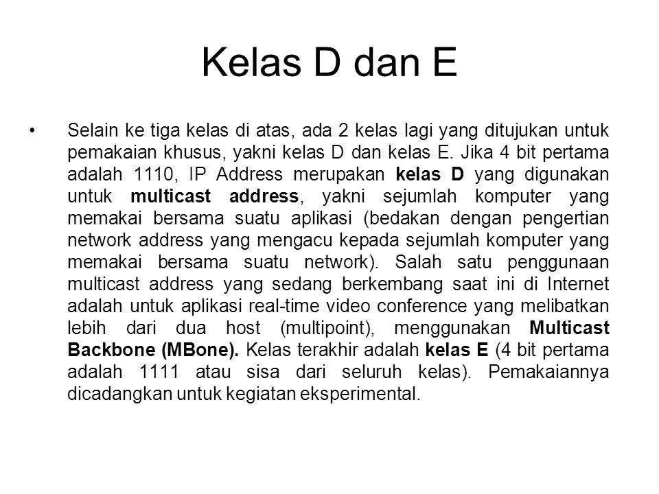 Kelas D dan E