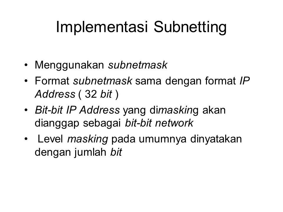 Implementasi Subnetting