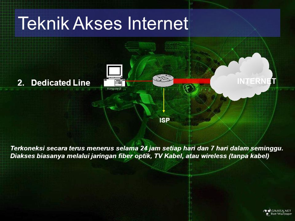 Teknik Akses Internet 2. Dedicated Line ISP