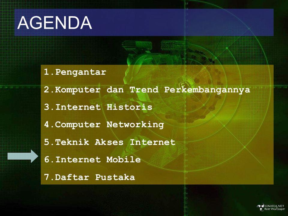 AGENDA Pengantar Komputer dan Trend Perkembangannya Internet Historis