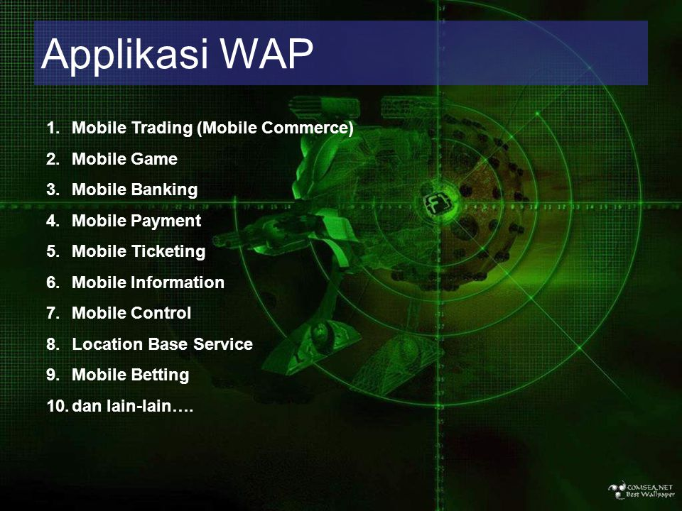 Applikasi WAP Mobile Trading (Mobile Commerce)‏ Mobile Game