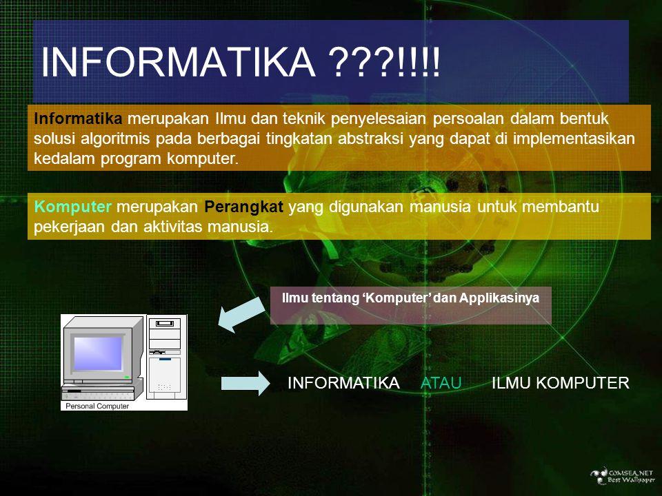 Ilmu tentang 'Komputer' dan Applikasinya