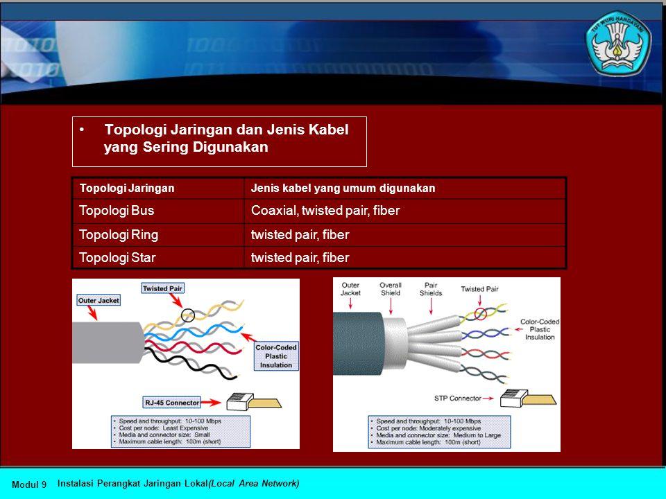 Topologi Jaringan dan Jenis Kabel yang Sering Digunakan