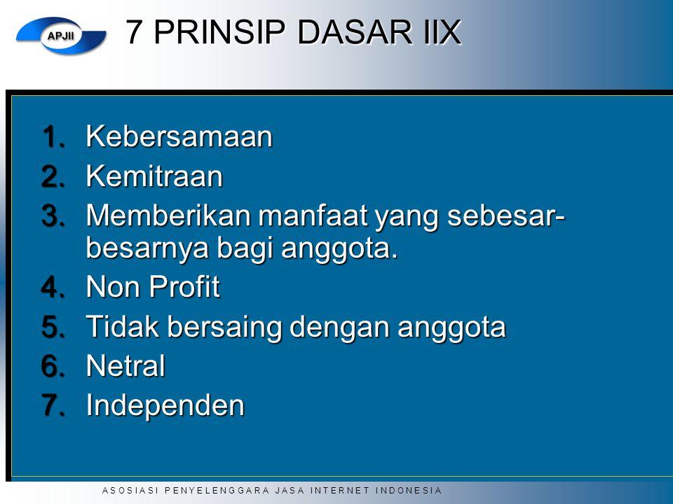 7 PRINSIP DASAR IIX Kebersamaan Kemitraan