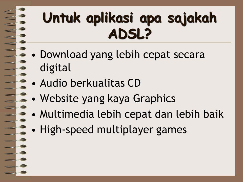 Untuk aplikasi apa sajakah ADSL