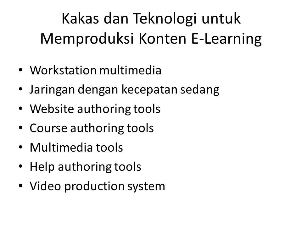 Kakas dan Teknologi untuk Memproduksi Konten E-Learning