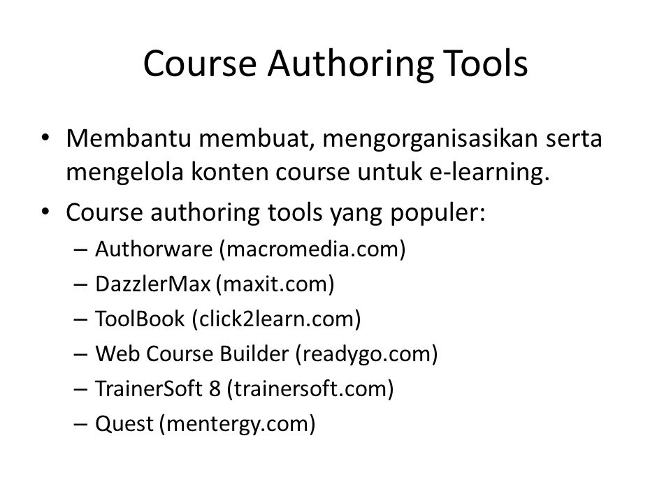 Course Authoring Tools