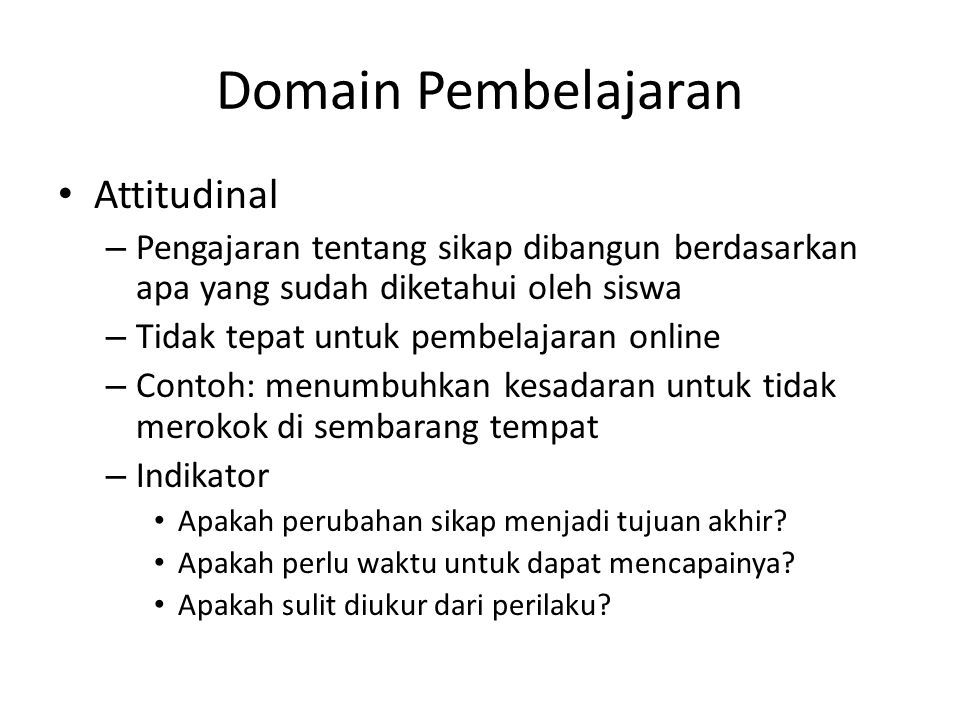 Domain Pembelajaran Attitudinal