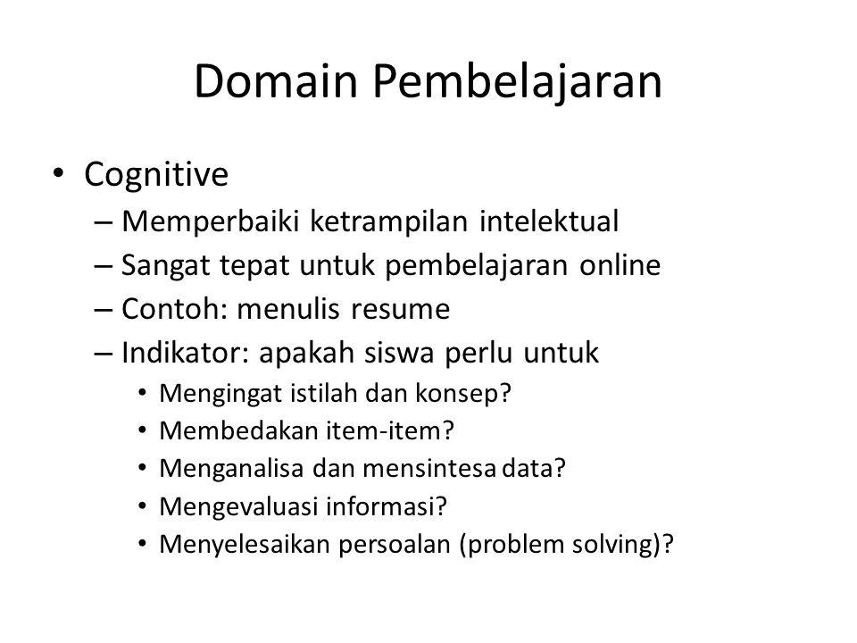 Domain Pembelajaran Cognitive Memperbaiki ketrampilan intelektual