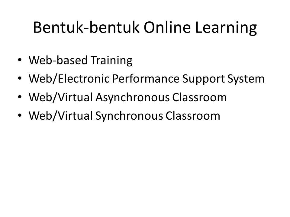 Bentuk-bentuk Online Learning