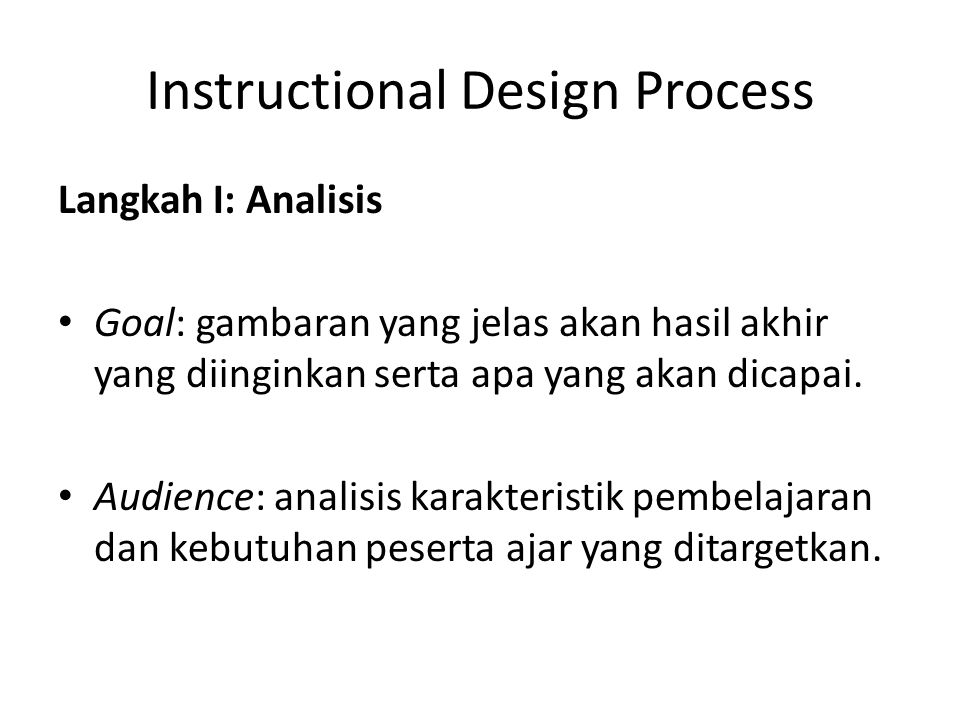 Instructional Design Process