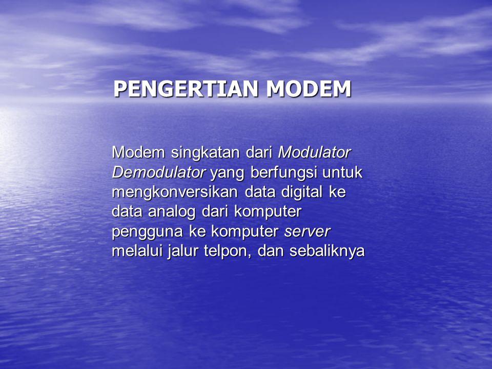 PENGERTIAN MODEM
