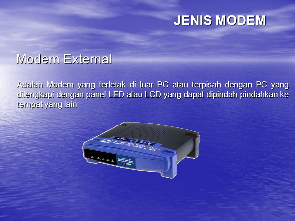 JENIS MODEM Modem External