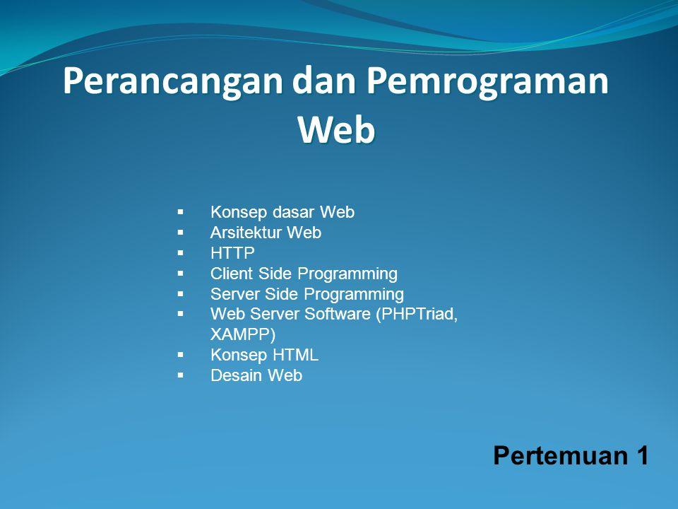Perancangan dan Pemrograman Web