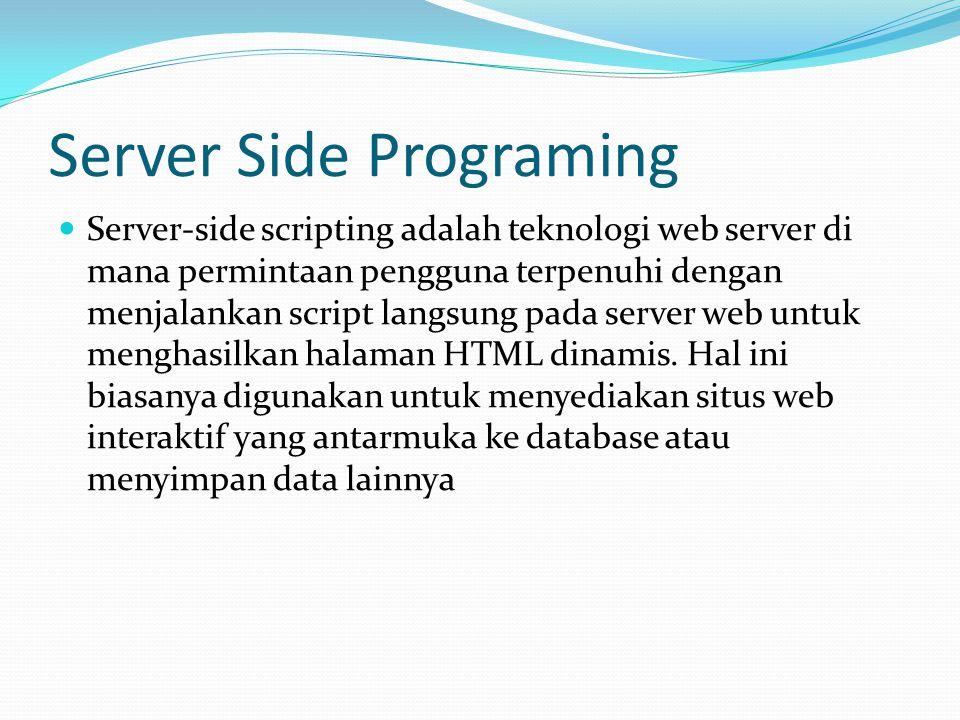 Server Side Programing