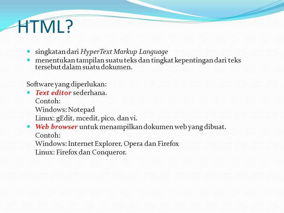 HTML singkatan dari HyperText Markup Language