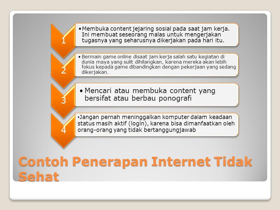 Contoh Penerapan Internet Tidak Sehat