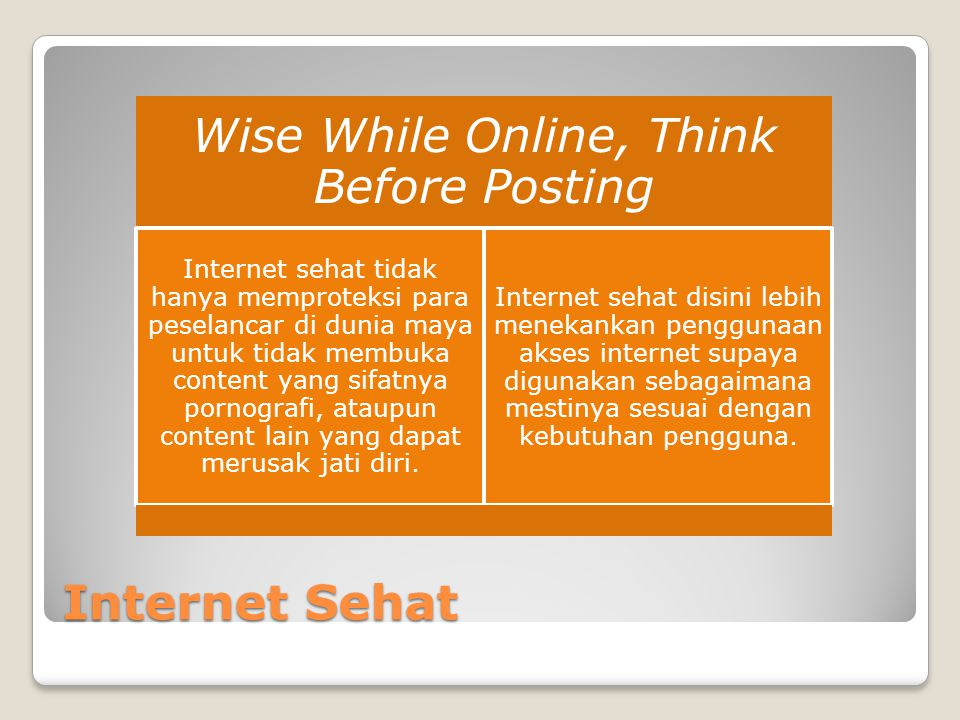 Wise While Online, Think Before Posting