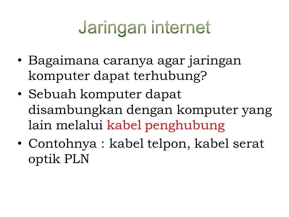Jaringan internet Bagaimana caranya agar jaringan komputer dapat terhubung