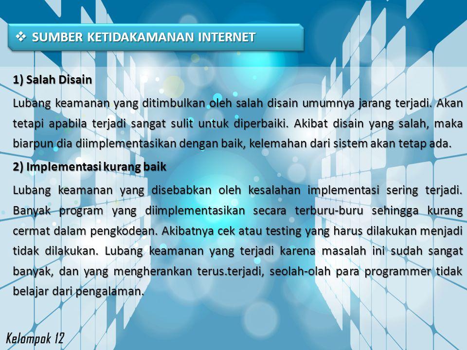 SUMBER KETIDAKAMANAN INTERNET