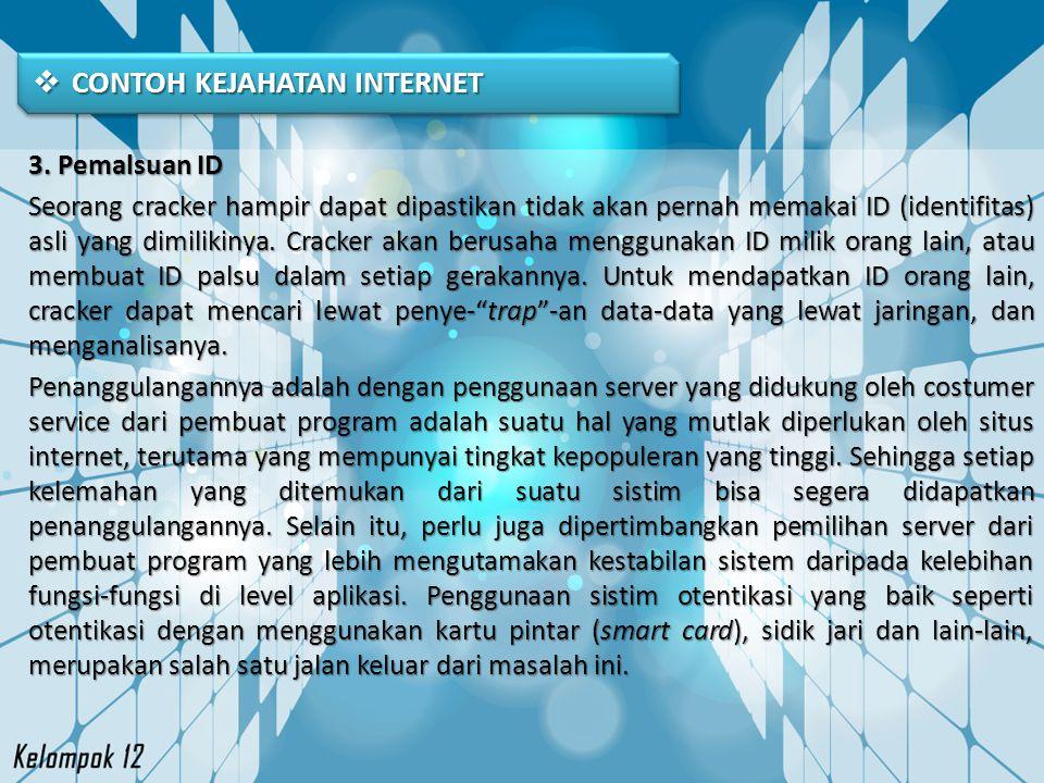 CONTOH KEJAHATAN INTERNET