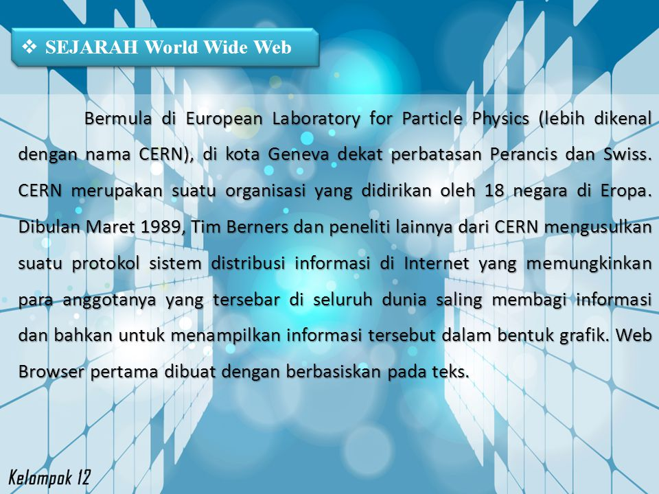 SEJARAH World Wide Web