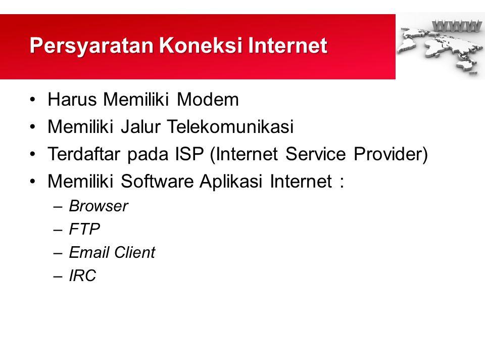 Persyaratan Koneksi Internet