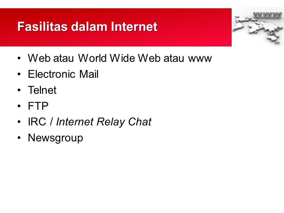 Fasilitas dalam Internet