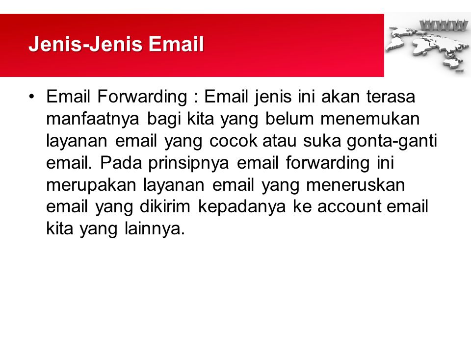 Jenis-Jenis Email
