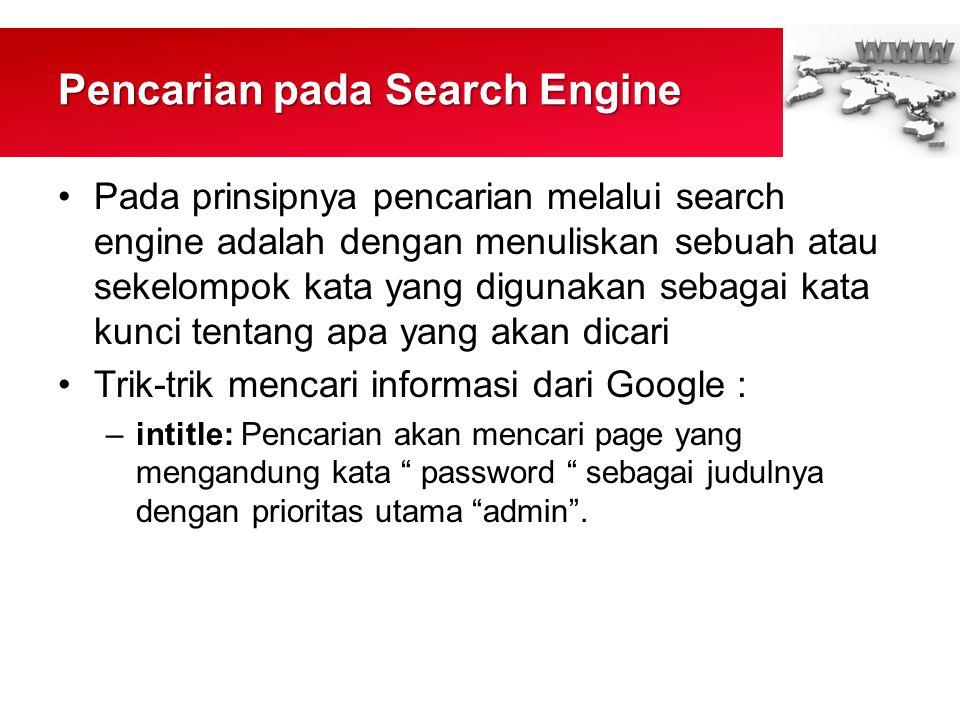 Pencarian pada Search Engine