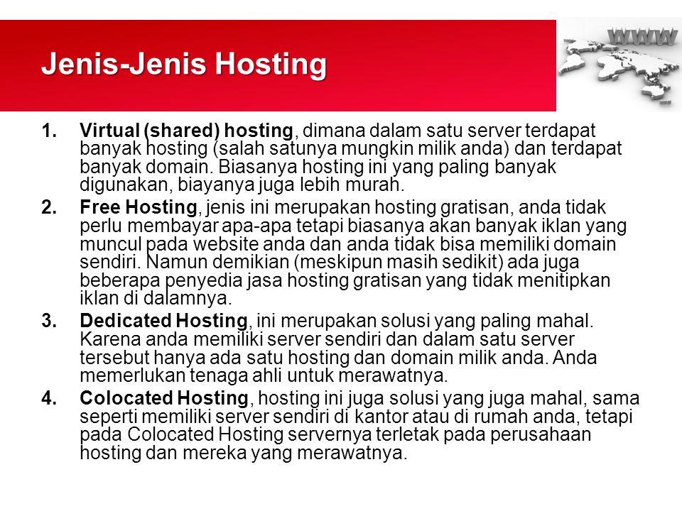 Jenis-Jenis Hosting