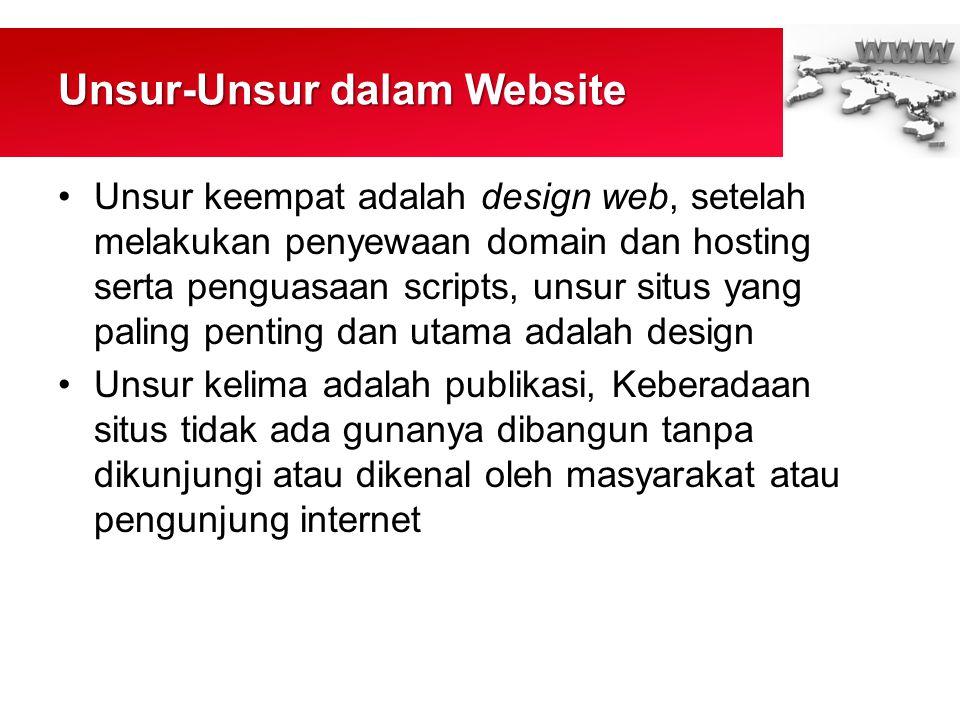 Unsur-Unsur dalam Website