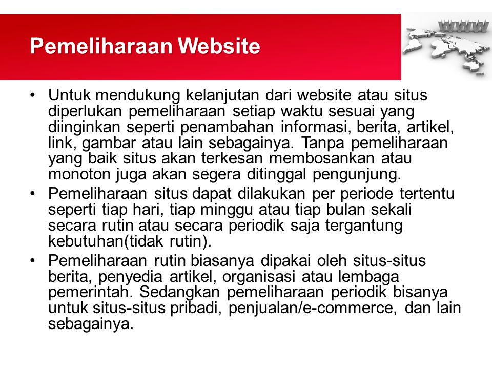 Pemeliharaan Website