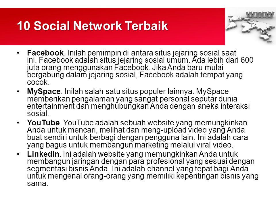 10 Social Network Terbaik