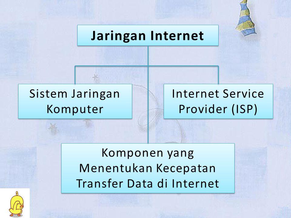 Jaringan Internet Sistem Jaringan Komputer