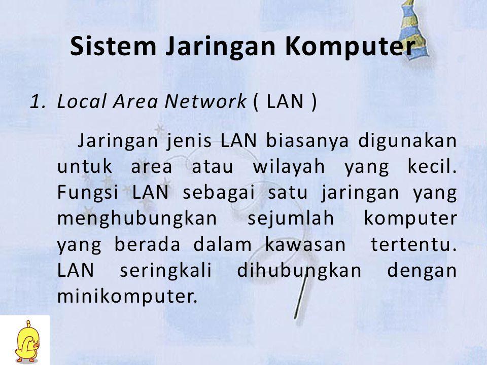 Sistem Jaringan Komputer