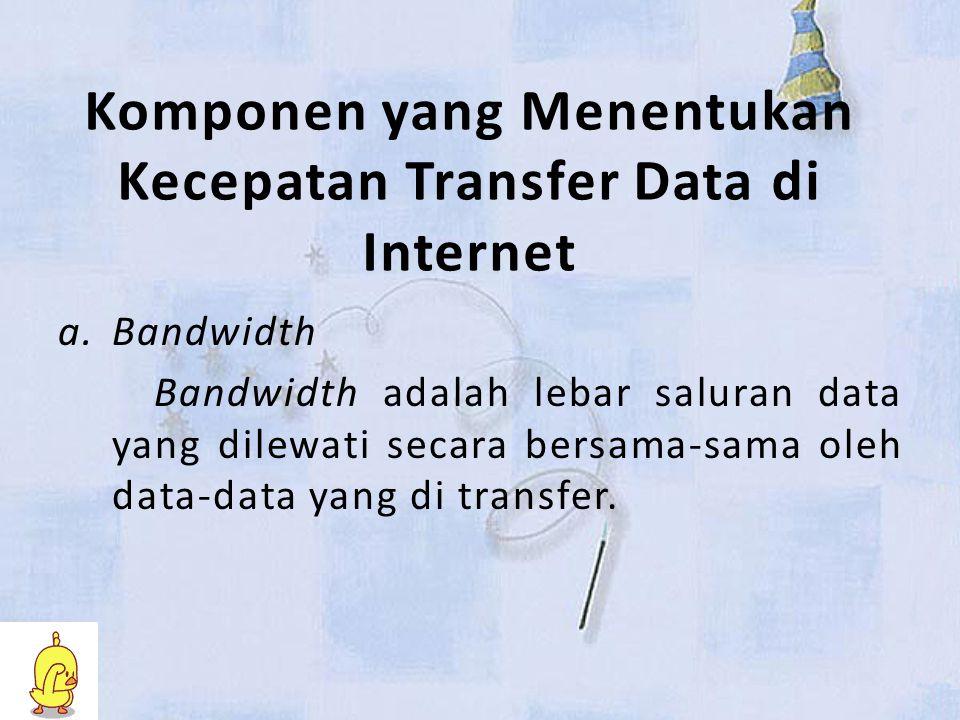 Komponen yang Menentukan Kecepatan Transfer Data di Internet